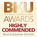 Logo for BKU Award, Highly Commended in Customer Services Category
