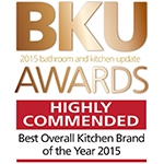 Logo for BKU Award, Highly Commended in Kitchen Brand of the Year Category 2015
