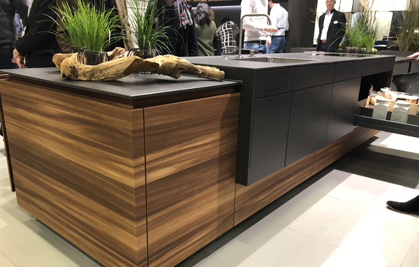Contemporary Kitchen Island Unit on Show At Living Kitchen Exhibition Colonge